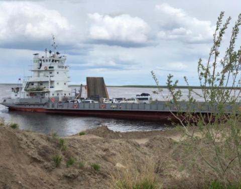 С 16 октября прогнозируется закрытие паромной переправы под Якутском