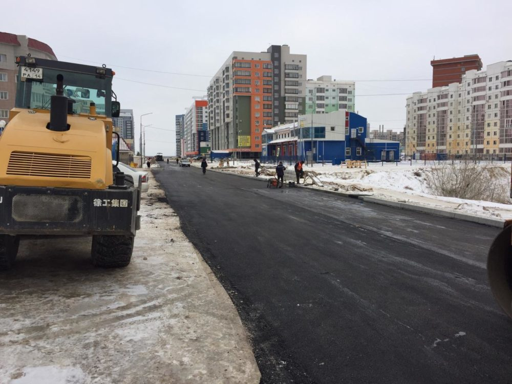 В Якутске завершено асфальтирование дорог в рамках реализации нацпроекта «БКАД 2.0» в 2019 году
