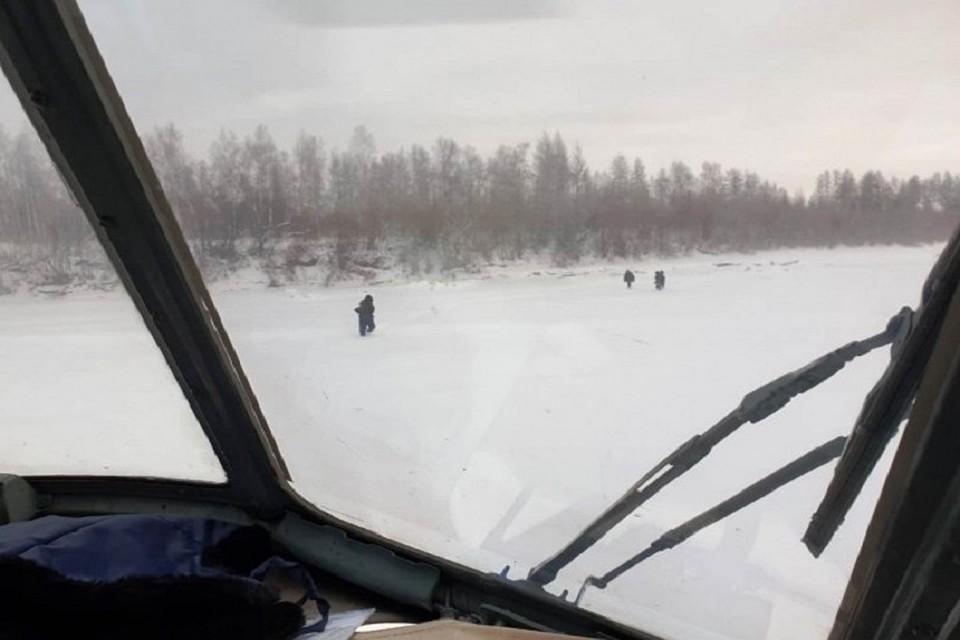 Экипаж «Полярных авиалиний» обнаружил затерявшихся в якутской тайге путников