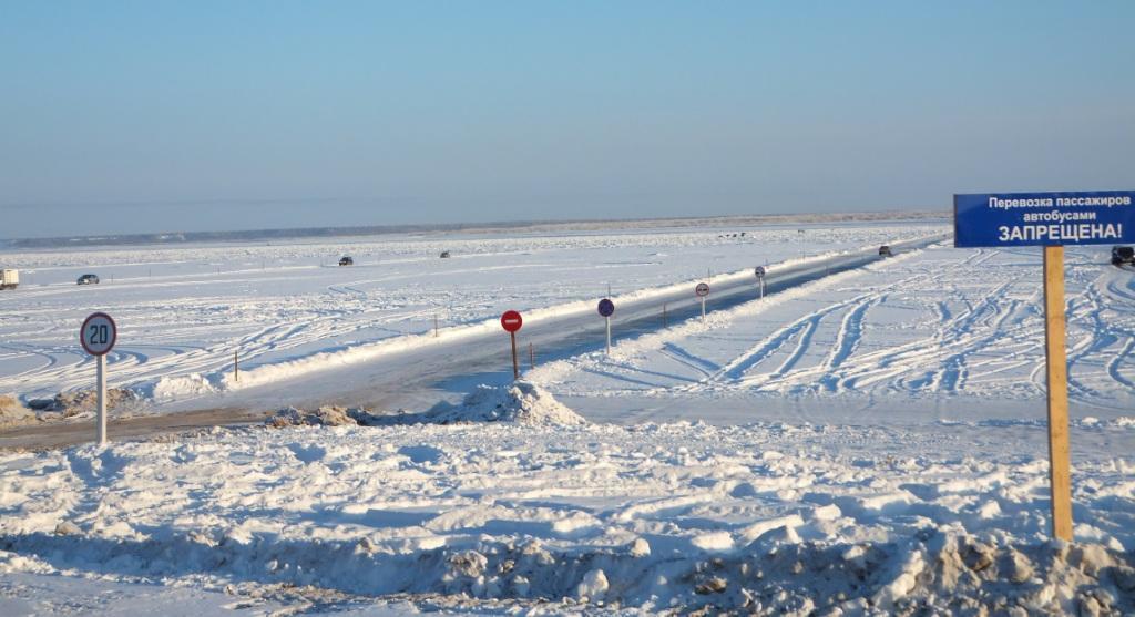 На федеральной трассе А-331 «Вилюй» открыто движение по всем ледовым переправам