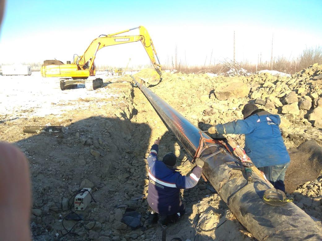 АО «Сахатранснефтегаз»: работа на трассе магистрального газопровода  идет полным ходом