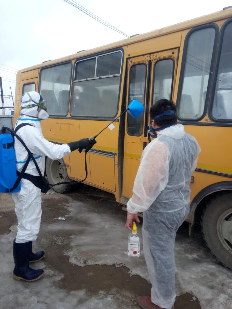 Автобусы и водители МУП ЯПАК — на переднем крае борьбы с распространением коронавируса в Якутске