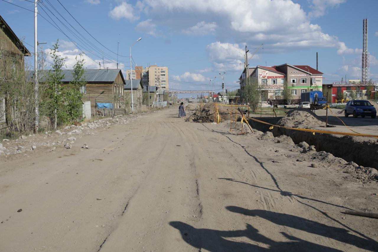 Капитальный ремонт улицы Кеши Алексеева в Якутске проводит ООО «Сахатрасстрой»