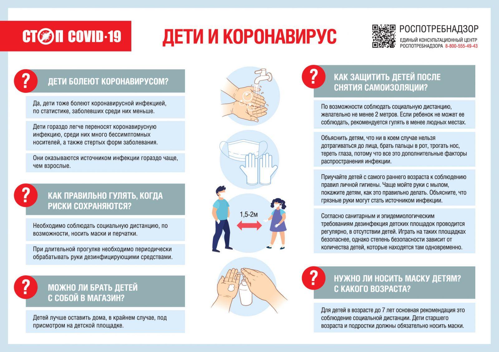 Роспотребнадзор: Как защитить детей от коронавируса в период снятия ограничений?