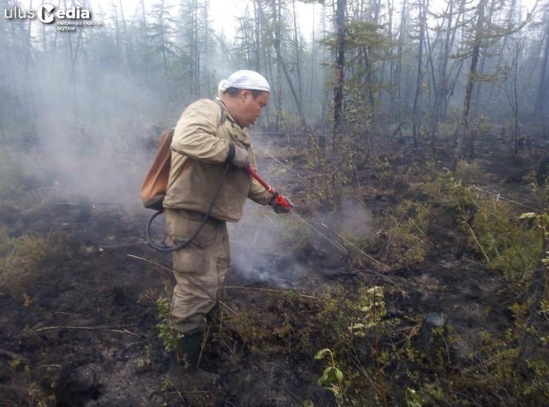 В Абыйском районе закрыто 30 лесных пожаров
