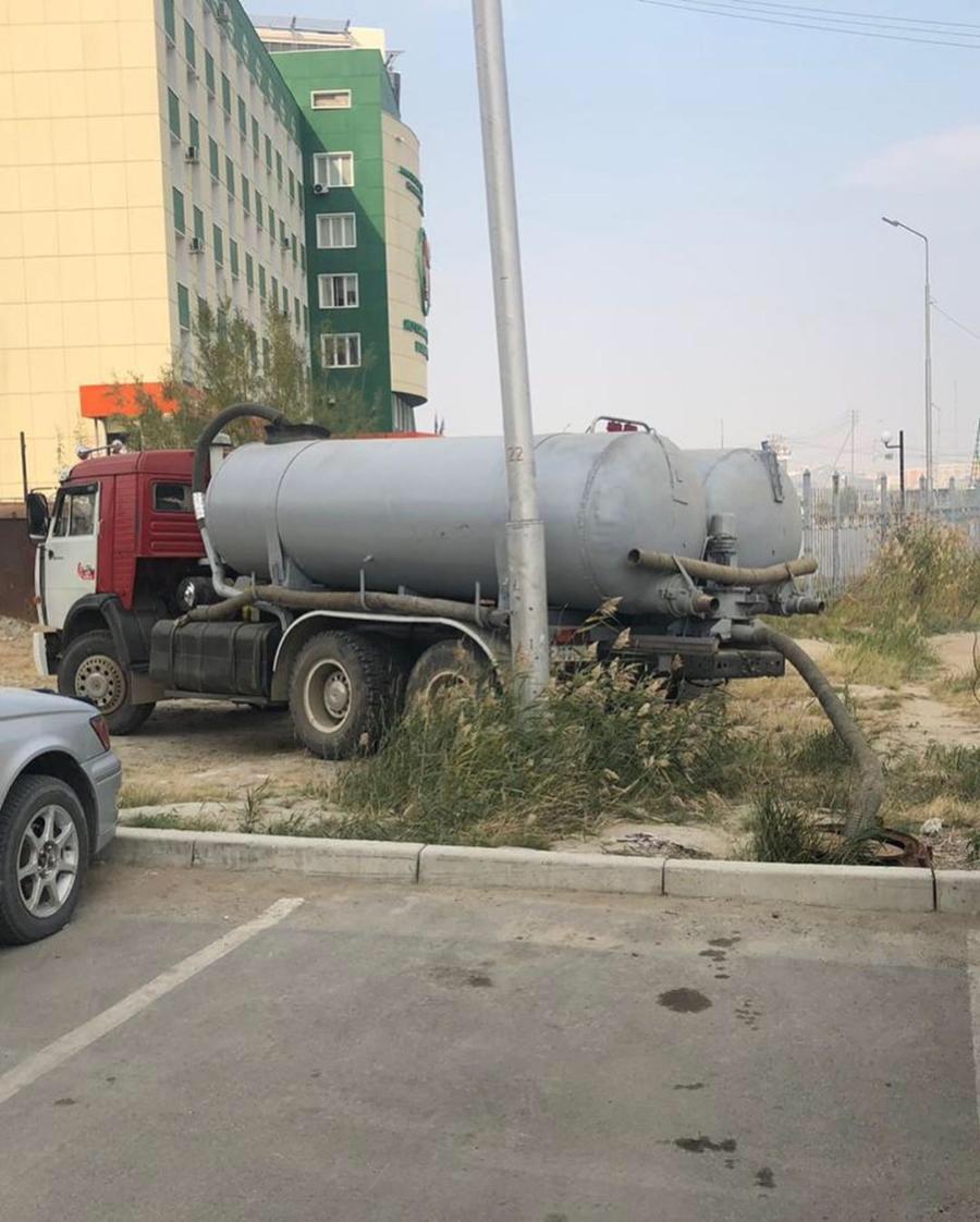 Административная комиссия города Якутска призывает сообщать о случаях незаконного слива жидких бытовых отходов