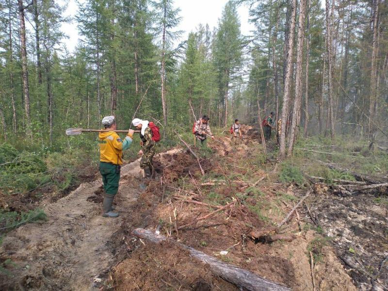 В районах Якутии тушат шесть лесных пожаров
