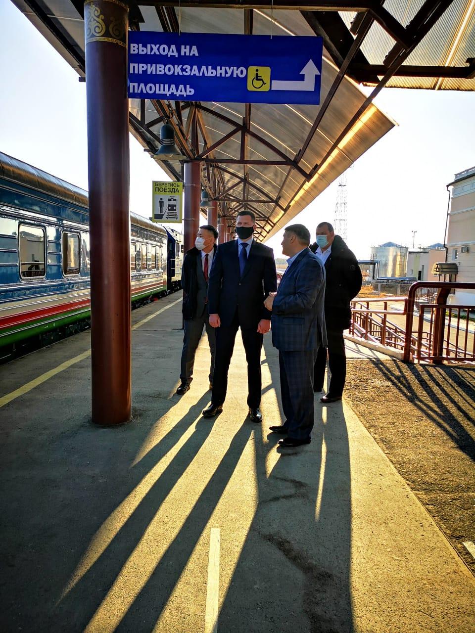 Главный федеральный инспектор по Республике Саха (Якутия) Евгений Корнеев посетил объекты Акционерной компании «Железные дороги Якутии»