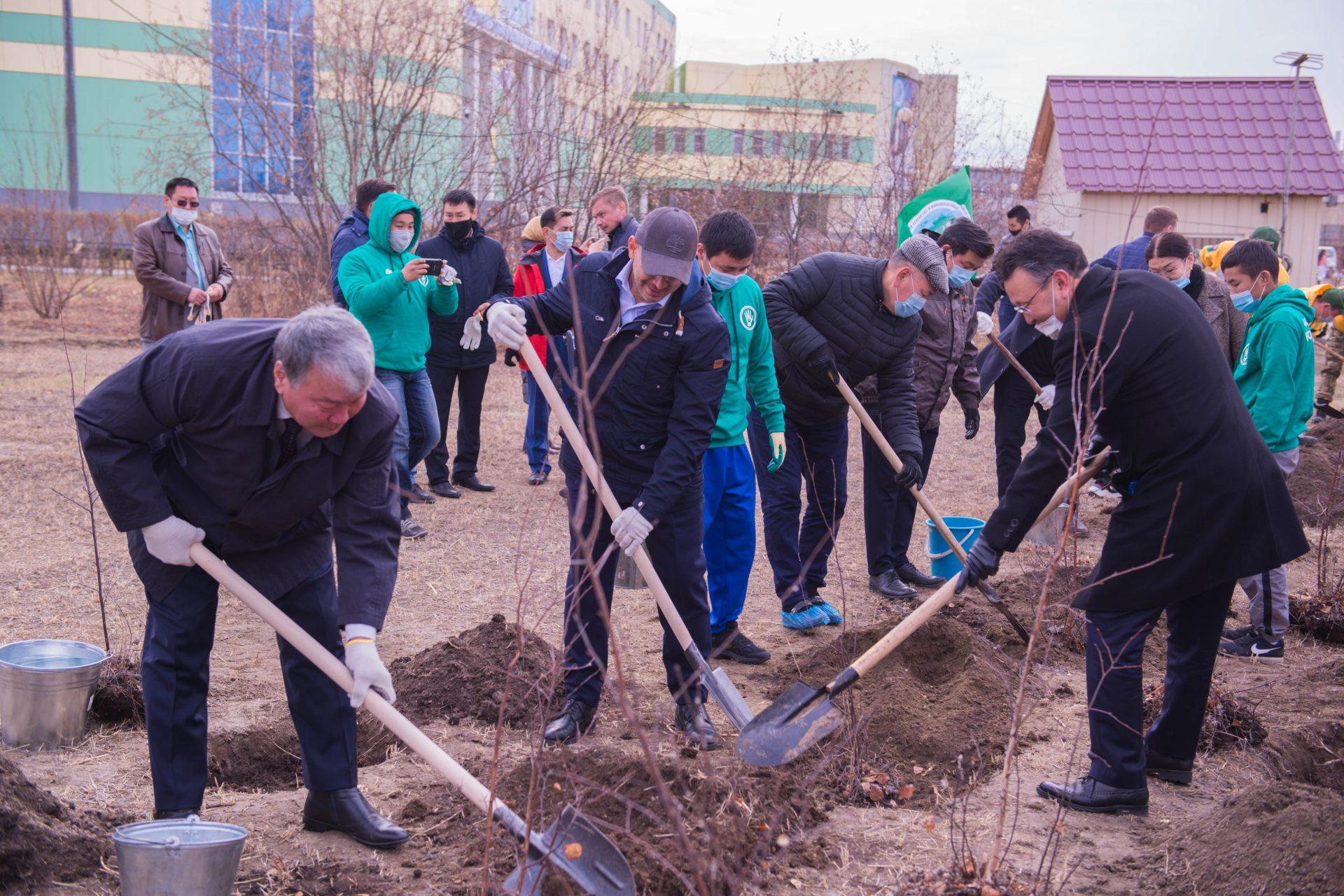 В АГАТУ посадили саженцы деревьев в рамках акции «Лес Победы»