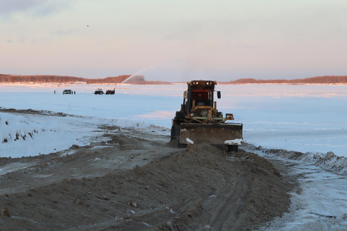 Ледовая переправа Хатассы — Павловск может заработать в ближайшие дни