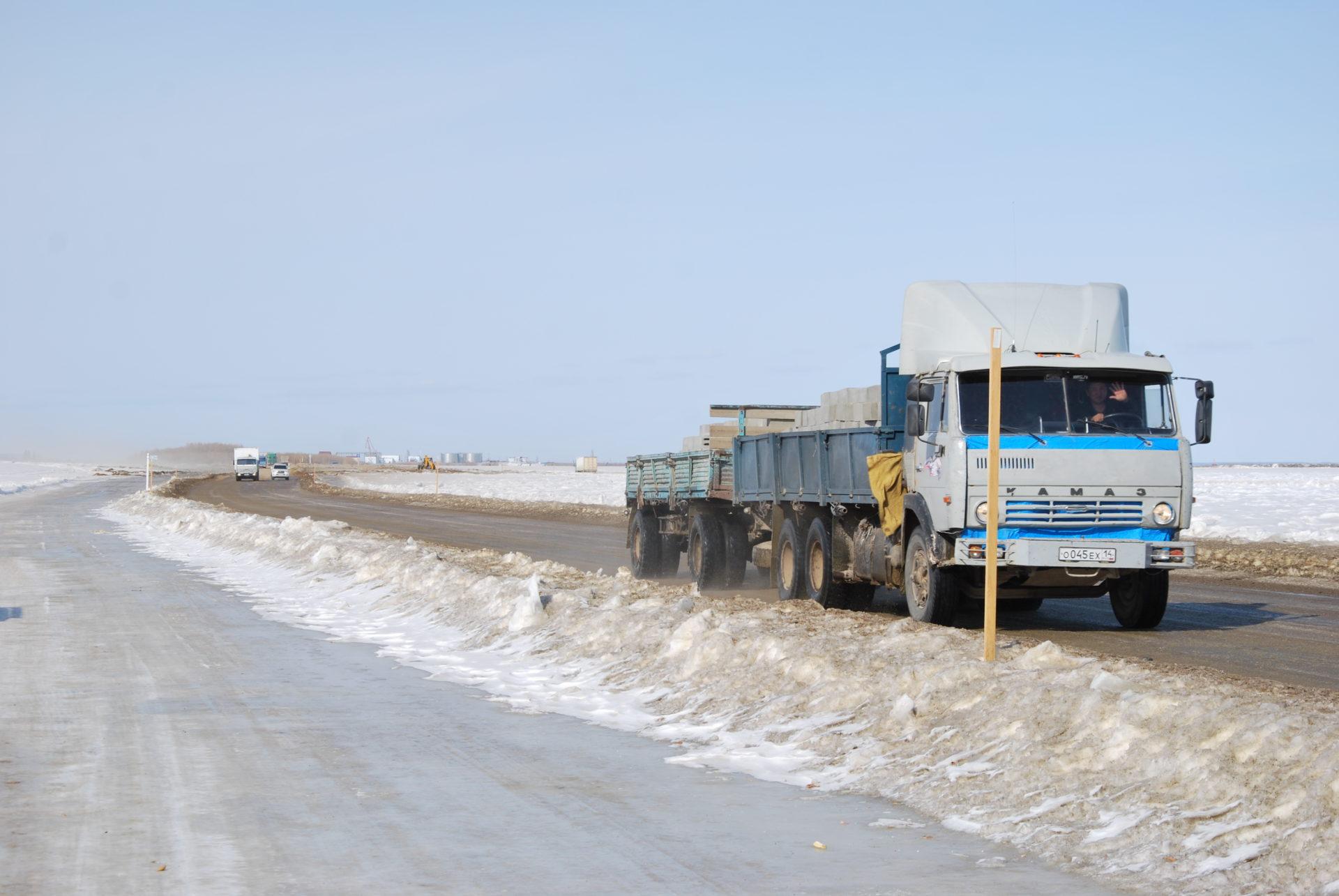 Досрочно открыто движение по ледовому автозимнику через р. Лена «Якутск-Нижний Бестях»