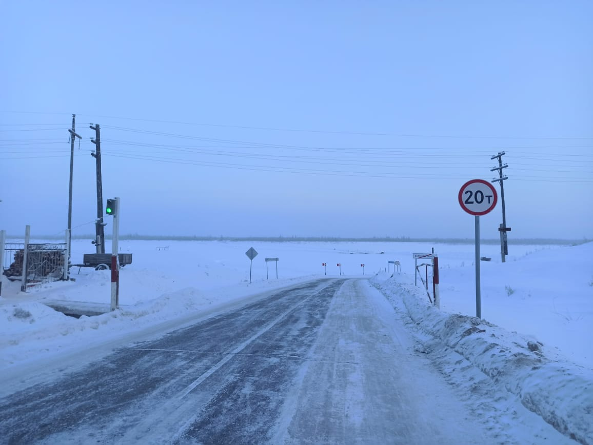 До 20 тонн увеличена грузоподъёмность ледовых переправ на федеральной трассе А-331 «Вилюй»