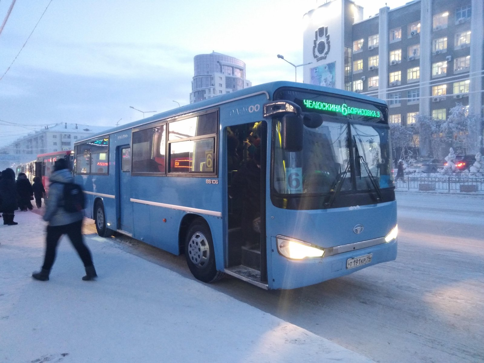 В Якутске внесли изменения в схему движения автобусного маршрута №6