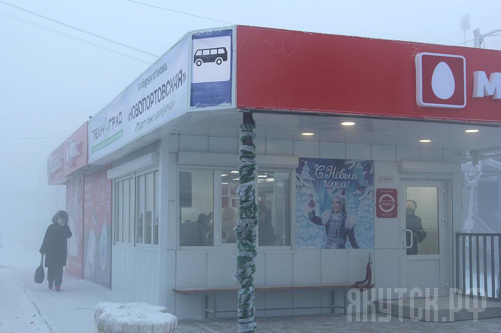 Теплые автобусные остановки в Гагаринском округе Якутска оборудуют автоматическими дверями