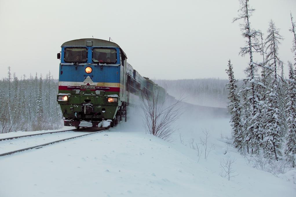 Железная дорога работает без сбоев несмотря на лютые морозы