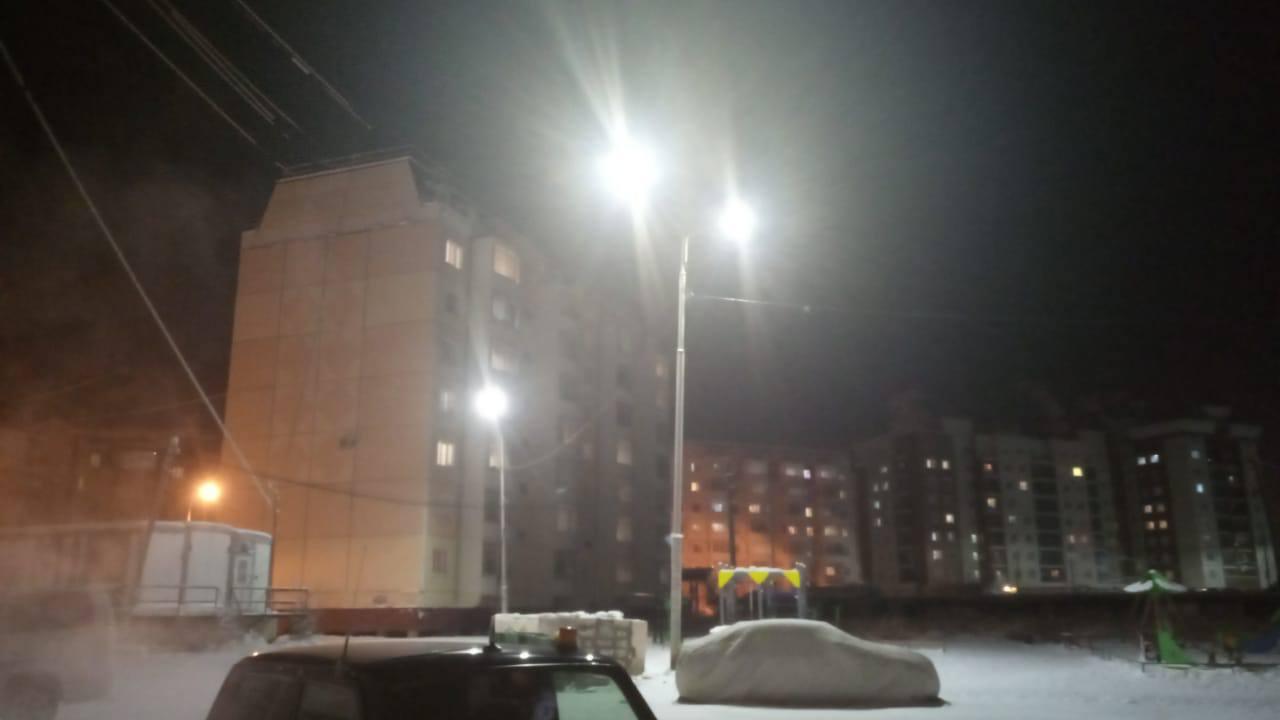 МУП «Горсвет» продолжает установку светодиодного освещения в Якутске