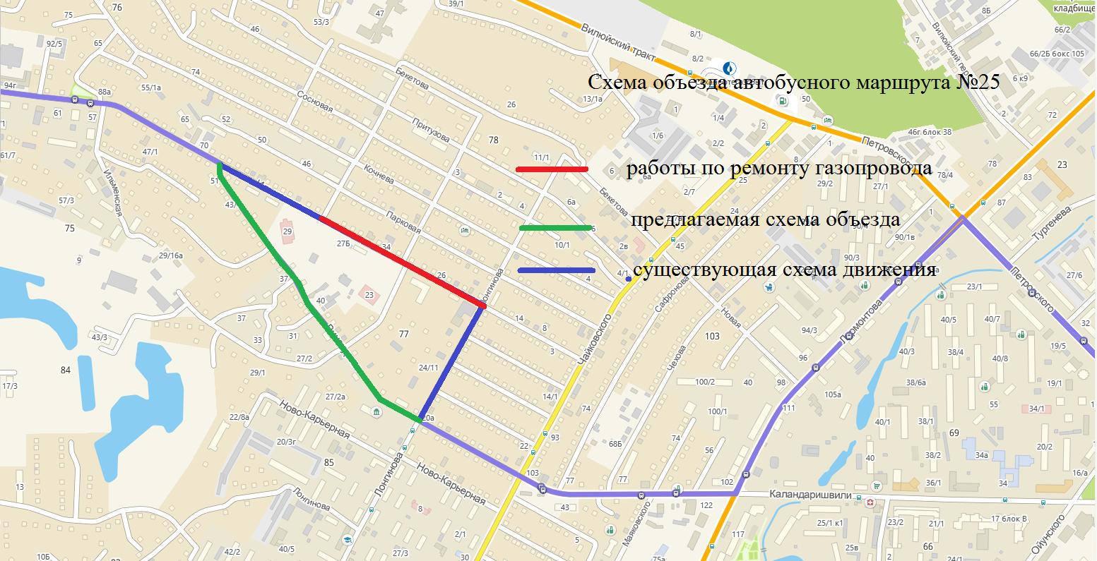 О временном перекрытии улицы Ильменская с 22 марта. Схемы объезда автобусов
