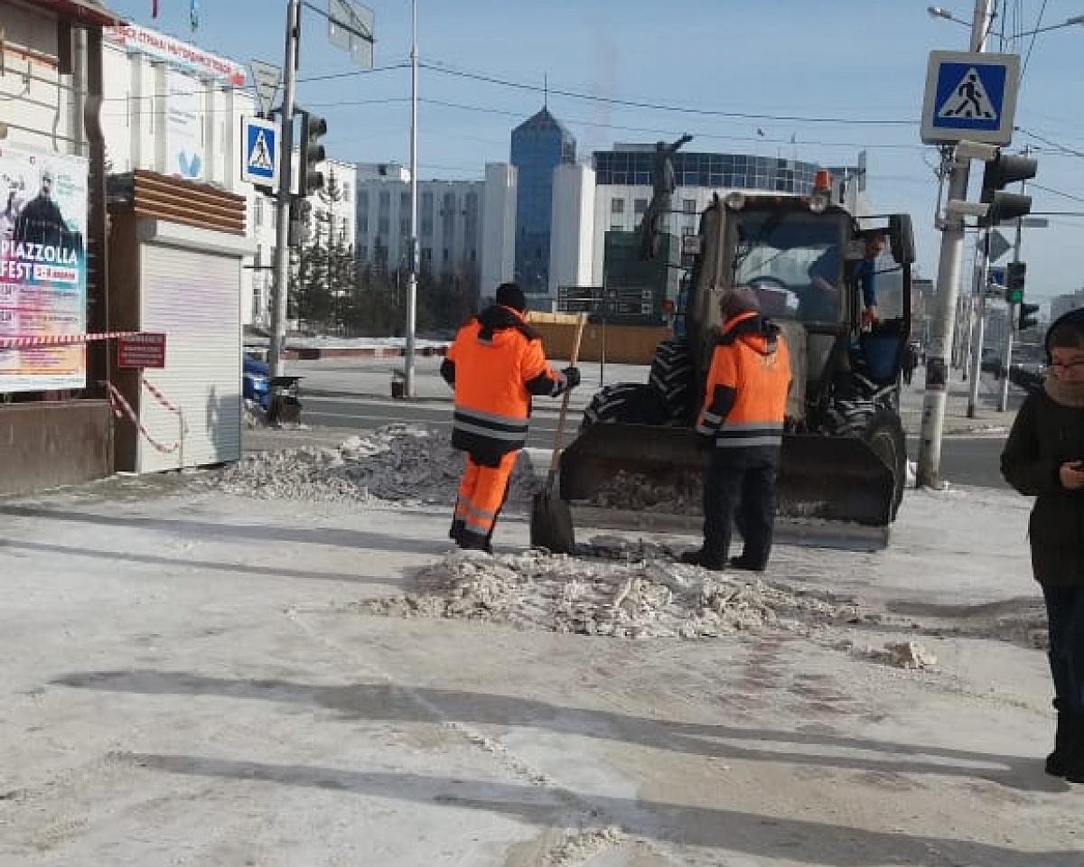 Более 470 тысячи кубометров снега вывезено в Якутске