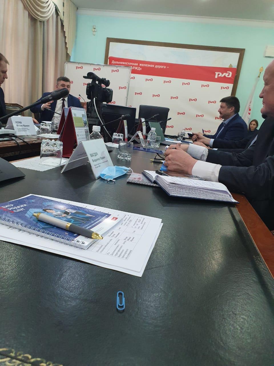 ЖДЯ и ДВЖД обсудили вопросы взаимодействия по передаче поездов по стыковочной станции Нерюнгри-пассажирская