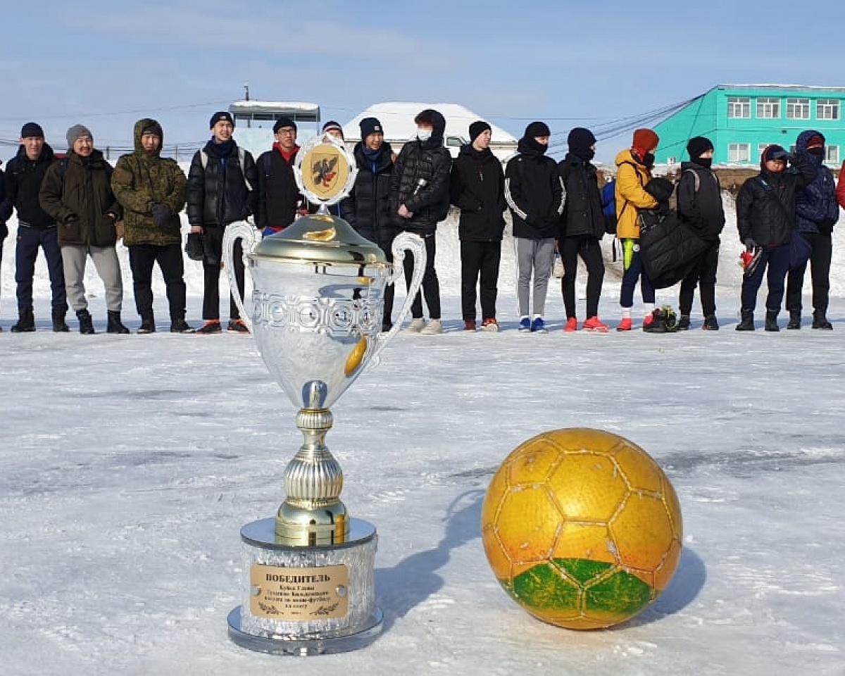 В Тулагино-Кильдямском наслеге провели турнир по мини-футболу на снегу