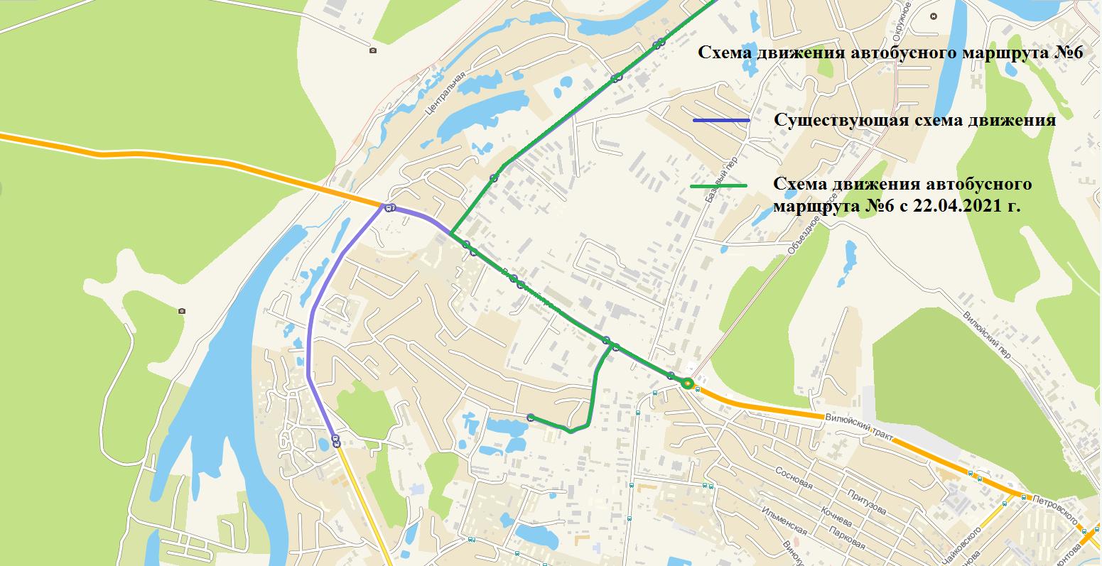 Об изменении схемы движения автобусного маршрута