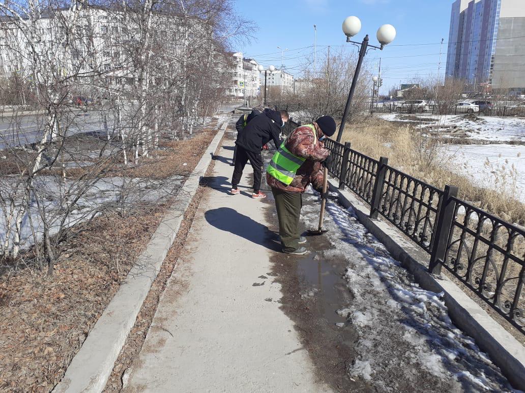 Общегородскую акцию «Стоп-гололед!» провели в Якутске