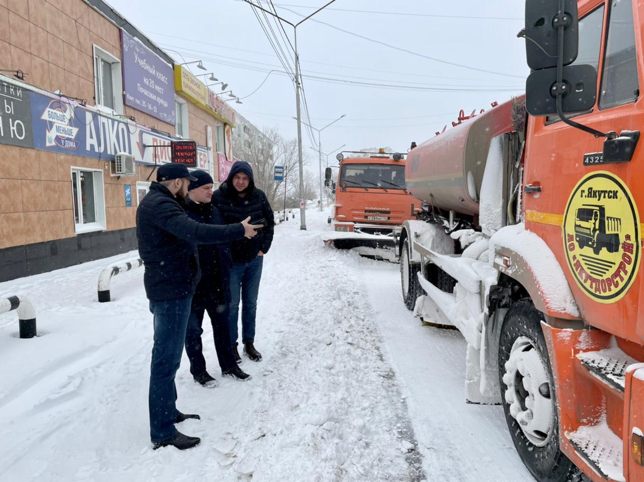 Роман Сорокин проинспектировал маршруты уборки городских улиц от снега