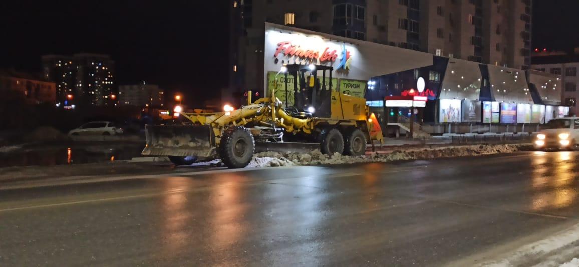 Дорожные службы Якутска работают круглосуточно