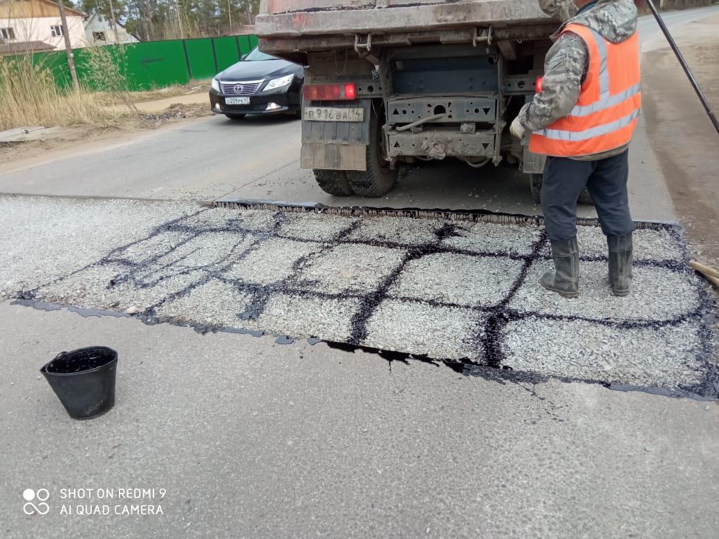 Ямочный ремонт улиц города Якутска в 2021 году