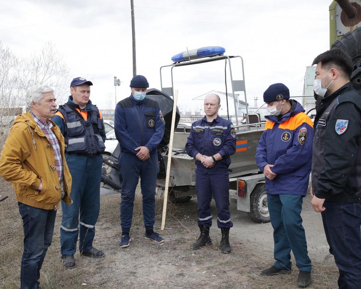 Евгений Григорьев проверил подготовку к пропуску паводка