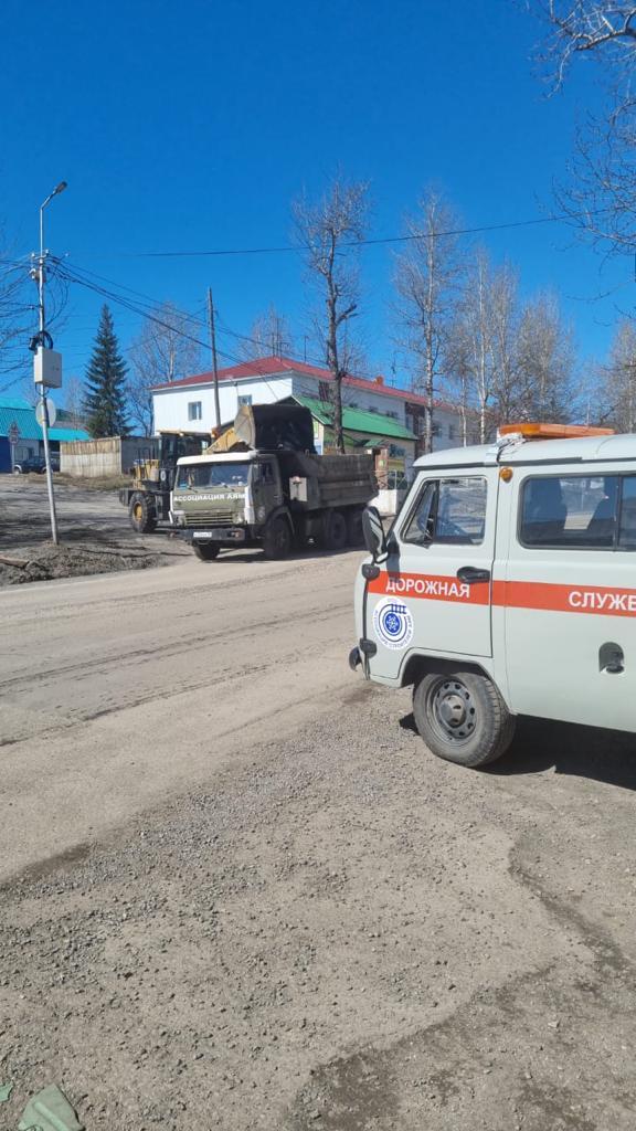 Ассоциация строителей АЯМ. Продолжаются работы по летнему содержанию дорог.