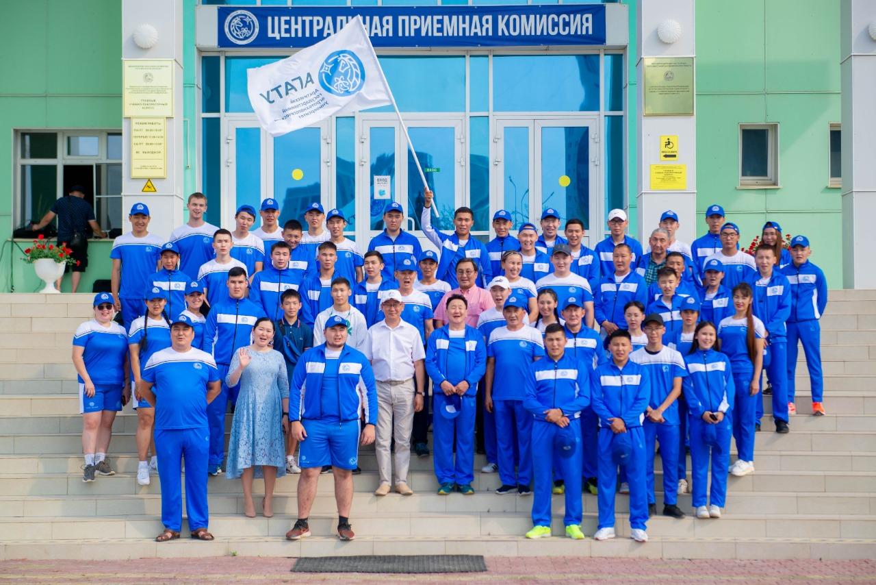 Спортсмены АГАТУ получили благословение на успешное участие в Играх Манчаары