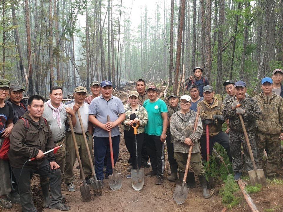 В Сунтарском улусе  локализованы два лесных пожара