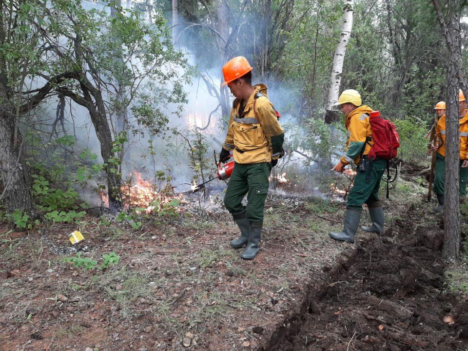 В Якутии идут работы по тушению 68 лесных пожаров