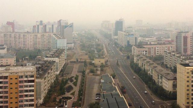 В Якутск пришел дым от очагов пожаров в Усть-Майском улусе