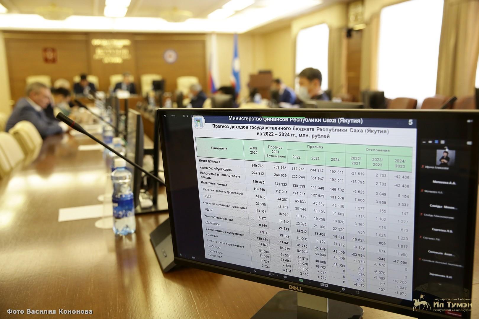 В Ил Тумэне состоялись публичные слушания по проекту государственного бюджета Якутии на 2022 год и на плановый период