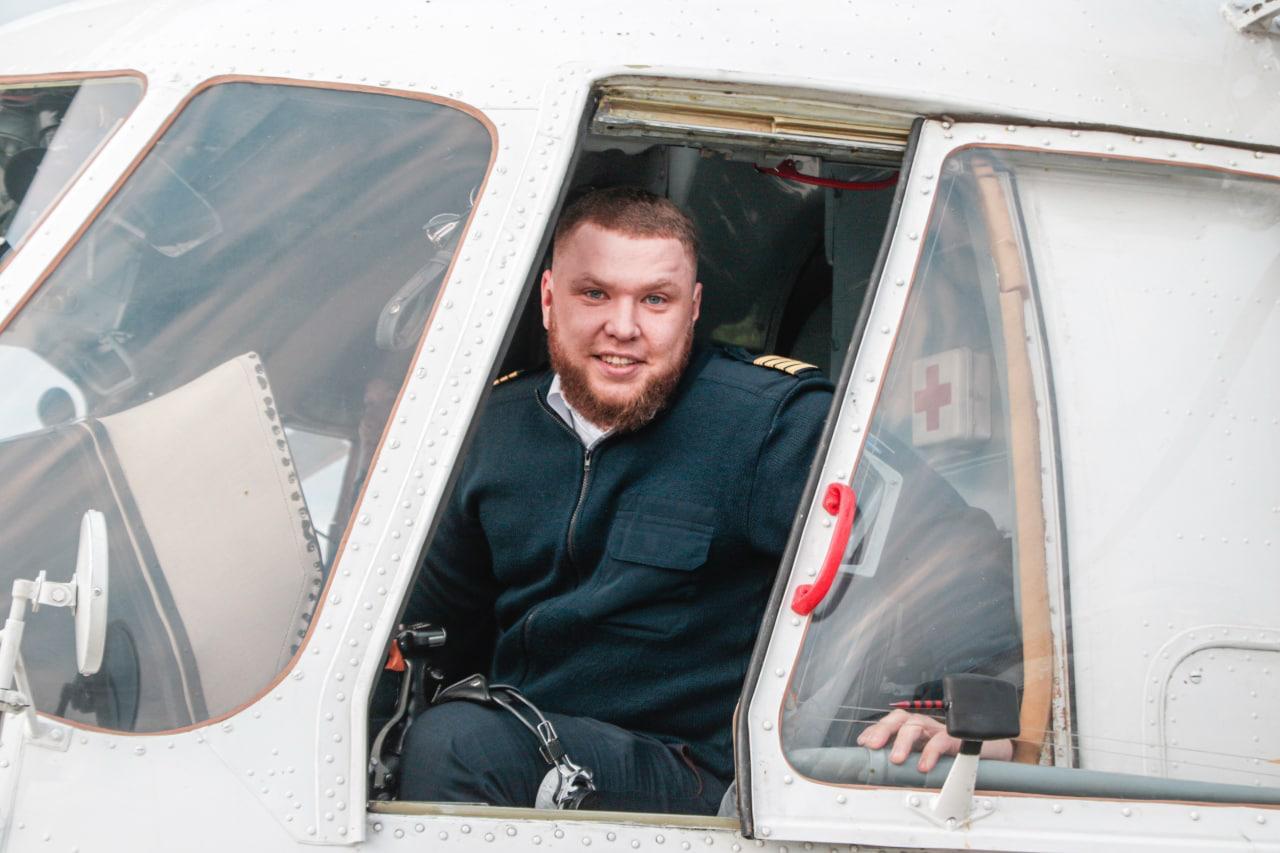 Свой первый полёт в качестве командира Ми-8 выполнил Антон Мордвинов