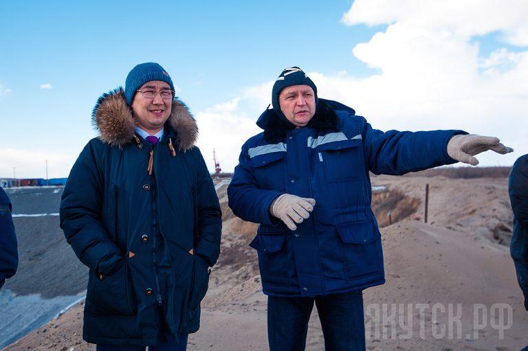 Айсен Николаев посетил территорию строительства нового водозабора
