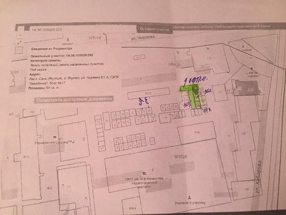 Как в центре г. Якутск приватизируют земли под несуществующие строения