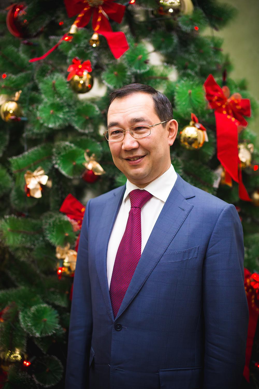 Поздравление главы г. Якутска А.С. Николаева  с Новым годом и Рождеством