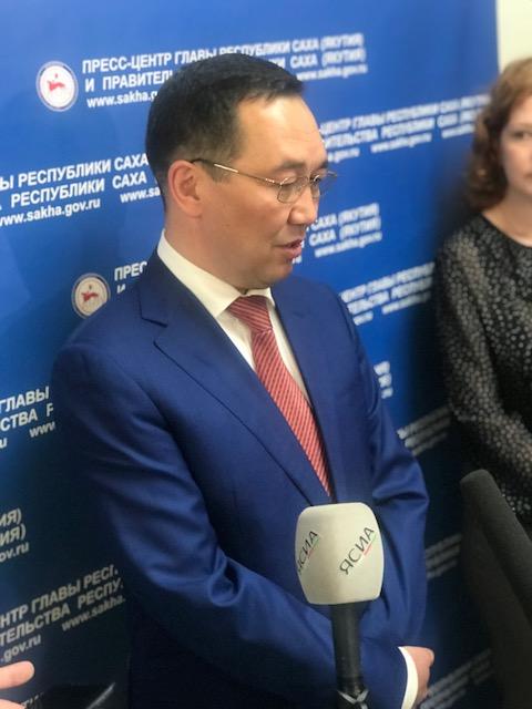 Айсен Николаев не ответил на вопрос, кто первым его поздравил с назначением после Путина