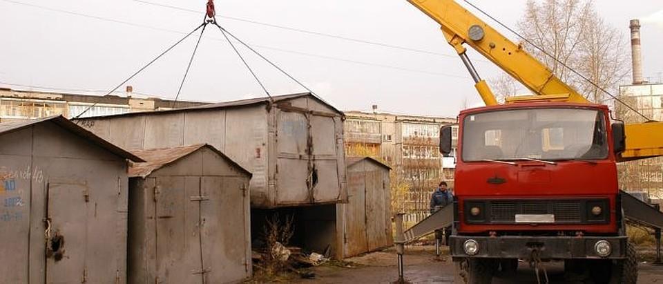 В Якутске вывезут полторы тысячи незаконно установленных гаражей