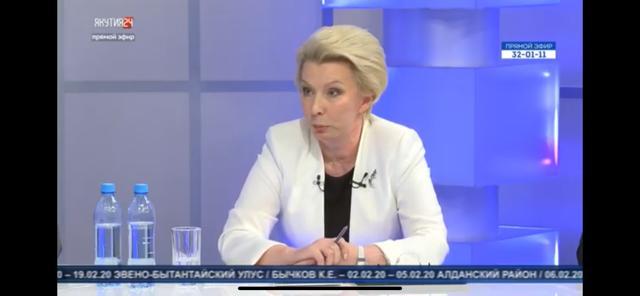 Зампред правительства Якутии Ольга Балабкина продемонстрировала в прямом эфире вопиющую некомпетентность