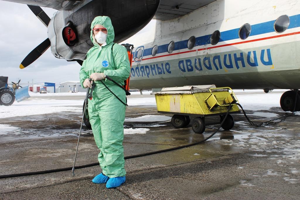 «Полярные авиалинии» проводят дополнительную дезинфекцию самолетов
