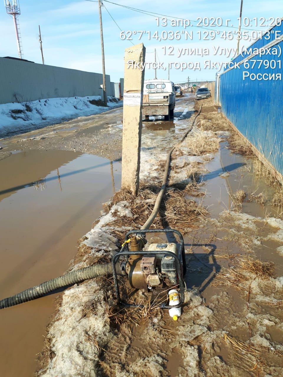 В округах и пригородах Якутска откачивают талые воды ускоренными темпами
