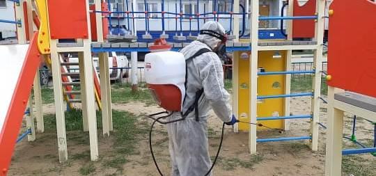 МУП «Жилкомсервис» продолжает дезинфекцию общественных пространств в усиленном режиме