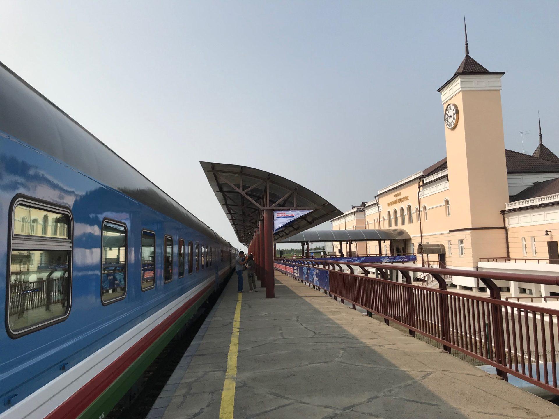 Со 2 июня 2020 года трансфер пассажиров поезда будет осуществляться с речного вокзала