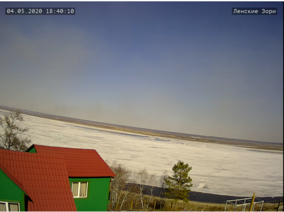 За движением ледохода на Лене можно наблюдать онлайн