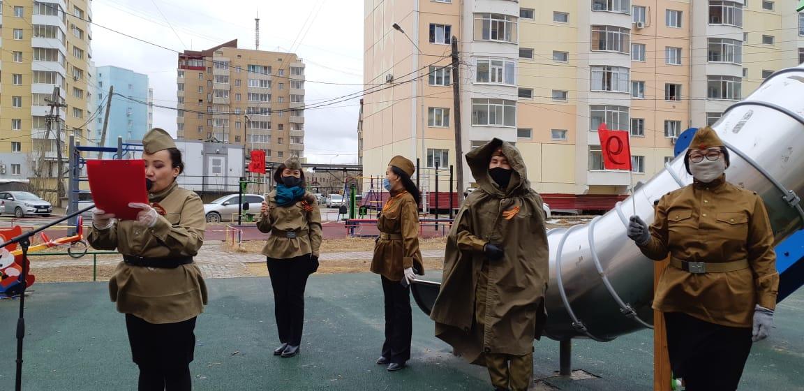 В Якутске начались праздничные акции ко Дню Победы