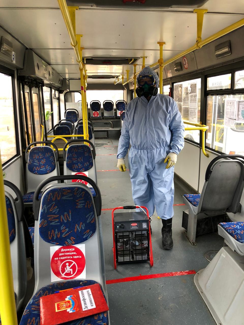 В Якутске проводится полномасштабная дезинфекция общественного транспорта